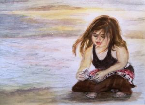 girl with a shell by Maruska