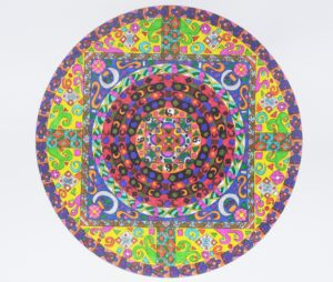 Square within Circle Mandala by Danni