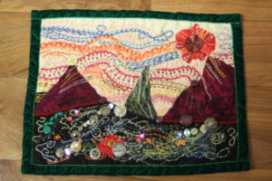 Art Quilt No. 1 Treasure Island by Diane Tate
