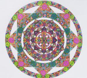 Green Star Polygon Mandala by Danni