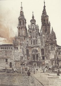 The Cathedral of Santiago de Compostela by Thomas Morris