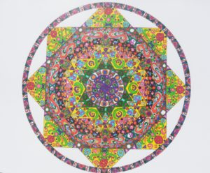 Yellow Star Polygon Mandala by Danni