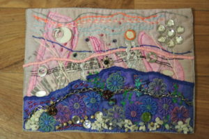 Art Quilt No.3 Tommorow's world by Diane Tate