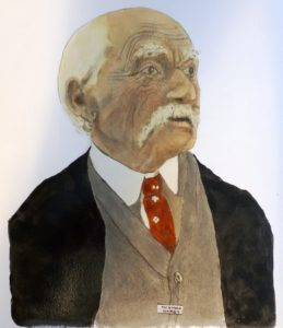 Portrait of Thomas Hardy by Allen Clark