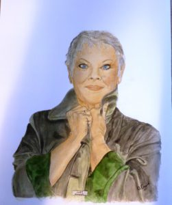 Portrait of Dame Judy Dench by The Smile