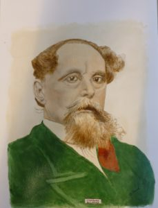 Portrait of Charles Dickens by Allen Clark