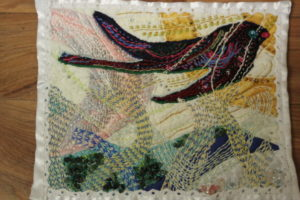 Art Quilt No.4 Second flight. by Diane Tate