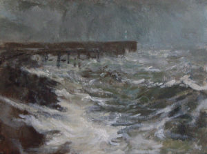 Near Aberystwyth Harbour – October by AVERIL CLIFFORD REES