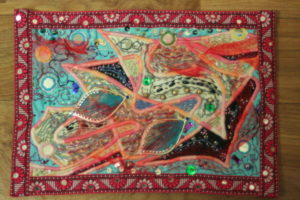 Art Quilt No.5 Sobrani by Diane Tate