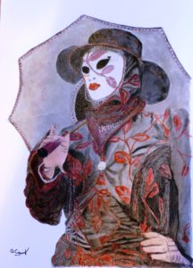 Carnival Mask by Portrait of Charles Dickens