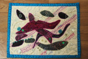 Art Quilt No.6 Crystal Dreams by Diane Tate