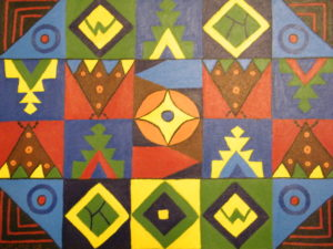 Untitled (squares and triangles) by Marjorie McLean