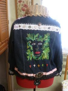 The Green Mistress Denim Jacket by Diane Tate