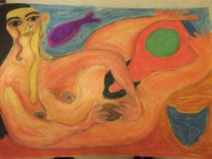 Mermaid and tear by Inez Patino