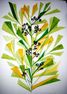 Green Leaves 1 by Daryl Schiffeldrin