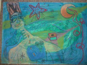 Mermaid and Star by Inez Patino