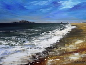 Brighton by abstract landscape