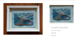 Copper and blue by Nathalie Lomas
