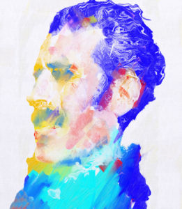 Portrait of Moustachio by Anthony Woods-McLean
