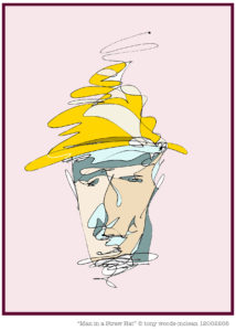 Man in a Straw Hat by Anthony Woods-McLean