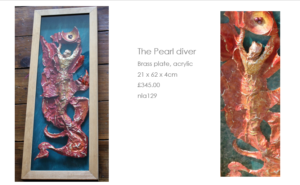 The Pearl diver by Nathalie Lomas