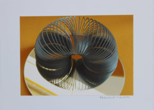 Photograph of a slinky spring by Maurice Wilson