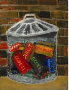 Dustbin of pointless emotions by Margaret Pepper