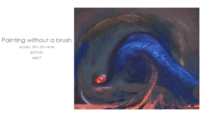 Painting without a brush by Nathalie Lomas