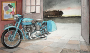 1952 Triumph Thunderbird and The SNail by John Lowerson