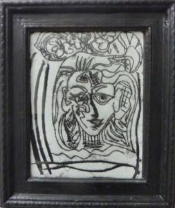 Girl with Flowers in her Hair (After Picasso) by Wendy Bailey