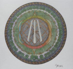 Druidic Meditation Wheel by sheilam.artwork