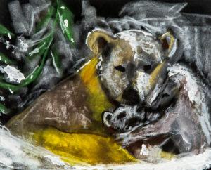Polar Bear family by Terri Avril Winchester
