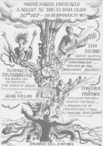 Poster for Music Maker magazine. Tree of Sound by Robin Wilson