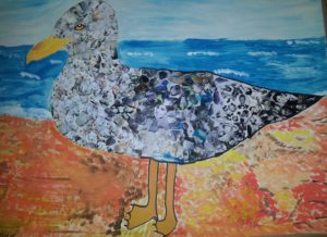 Seagull collage by Jade's Gallery