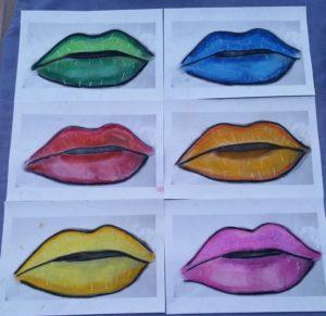 Pop art Lips by Jade's Gallery