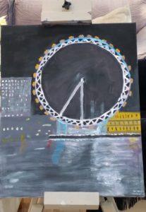 London eye at night by Jade's Gallery