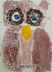 Blue Eyed Owl by Kirsty