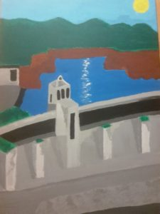 The Dam Architecture (Acrylic) by Ashley McCloud