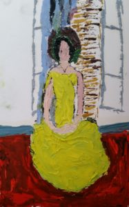 Woman in Yellow Dress by Mark Land
