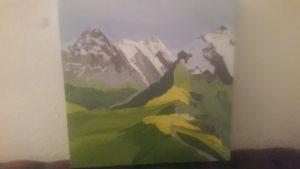Switzerland mountain landscape by Susannah Donnelly
