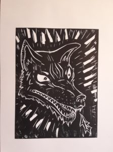 Wolf print by Pet Portrait