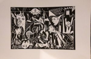 Guernica print by Polar bear