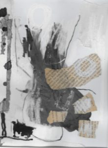 Mixed media collage 5 by jess levine
