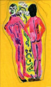 Adam and Eve temptation by Elzbieta Harbord