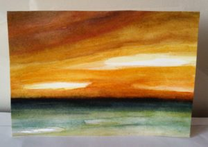 Sunset and the Rain by susan taylor