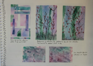 Page from a sketchbook by Carole Bennett