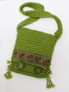 Green Knitted and Lined Bag by Julia Gabriel