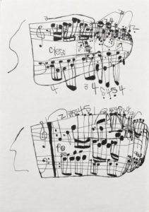 Musical Score 3 by Koji Nishioka