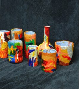 Re-cycled pots by Stephen Mundy
