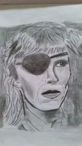 David Bowie Portrait by Jade's Gallery